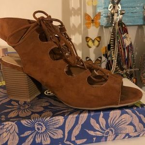Cute brown summer booties